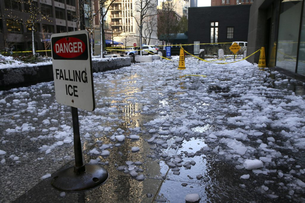 Falling Ice - Personal injury claim